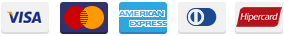 Outras formas de pagamento: Visa, MasterCard, American Express, Dinners Club International e Hipercard